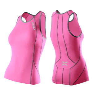 2XU Women's Perform Triathlon Singlet - Synthetic Pink