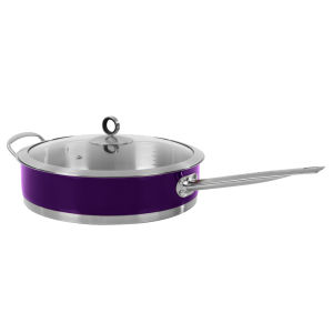 Morphy Richards Accents 28cm Saute Pan with Glass Lid - Plum