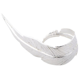 Daisy Knights Large Feather Ring - Silver