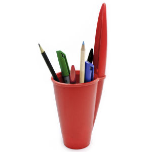 Pen Lid Shaped Pen Holder - Red