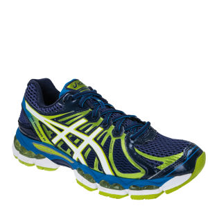 Asics Men's Gel Nimbus 15 Running Trainers - Blue Depths/Peral White/Lime