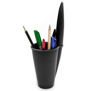 Pen Lid Shaped Pen Holder - Black