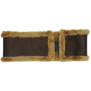Women's Faux Sheepskin Headband - Chocolate