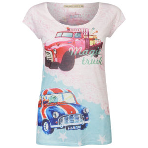 Brave Soul Women's Retro T-Shirt - Multi