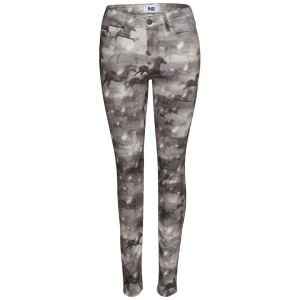 Paige Women's Hoxton High Rise Ultra Skinny Jeans - Black/White Wild Hearts