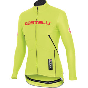 Castelli Gabba Windstopper Long Sleeve Jersey - Yellow Fluo/Reflective Silver