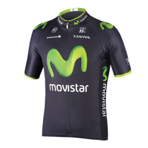 Movistar Team Replica Short Sleeved Jersey - Blue 2014