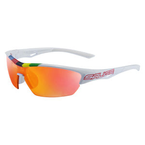 Salice 011 CDMRW Sunglasses - White/Mirror Red