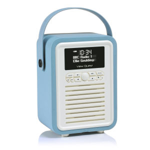 View Quest Retro Mini Bluetooth DAB+ Radio - Blue