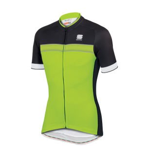 Sportful Giro Short Sleeve Jersey - Black/Yellow