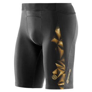 Skins A400 Active Compression Half Tights - Black/Gold