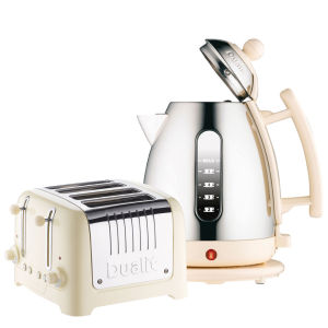 Dualit Jug Kettle and 4 Slot Toaster Bundle - Cream