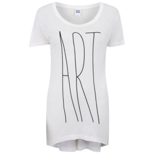 Vero Moda Women's Slogan T-Shirt - Snow White