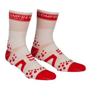 Compressport Pro Racing Socks - Bike - White/Red