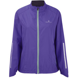 RonHill Women's Aspiration Windlite Jacket - Plum/Fluorescent Green