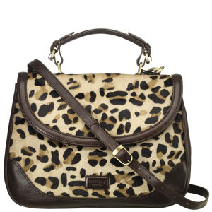 OSPREY LONDON The Zambezi Safari Leather Cross Body Satchel - Jaguar Animal Print