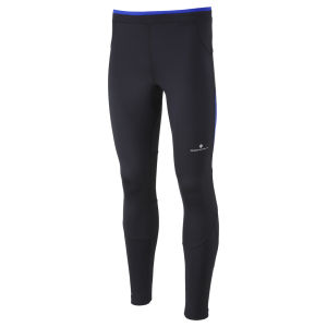 RonHill Men's Advance Contour Running Tights - Black/Cobalt