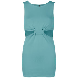 Influence Women's Cut Out Twisted Front Dress - Mint