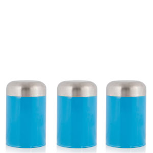 Cook In Colour Set of 3 Dome Canisters - Blue