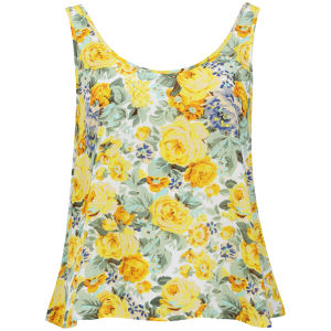 Glamorous Women's Golden Floral Top - Yellow