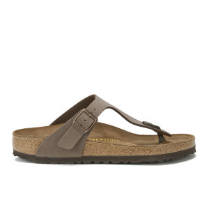 Birkenstock Women's Gizeh Toe-Post Leather Sandals - Mocca