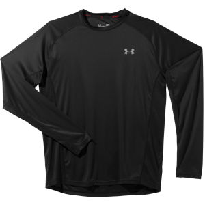 Under Armour Men's Heatgear Flyweight Long Sleeve Running T-Shirt - Black/Reflective