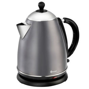 Swan 1.7 Litre Metallic Jug Kettle - Graphite