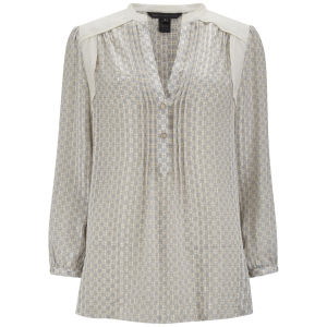 Marc by Marc Jacobs Women's Silk Print Blouse - White Print