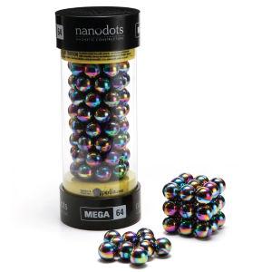 Mega Nanodots Magnetic Constructors Titanium Spectra - 64 Dots