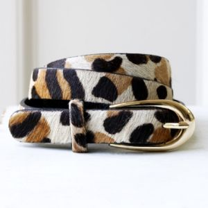 Make Accessories Women's Animal Print Belt