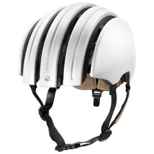 Carrera Premium 2014 Folding Helmet with Rear Light - Matt White