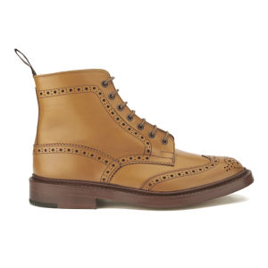 Tricker's Men's Stow Leather Brogue Boots - Acorn