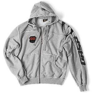 GASP Gym Hood Jacket - Grey Melange