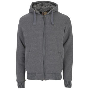 Ringspun Men's Greylock Zip Through Hoody - Grey Marl