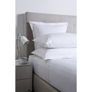 Christy 250 Egyptian Cotton Oxford Square Pillowcase - Linen
