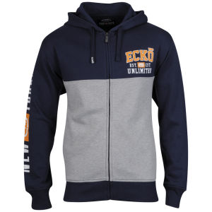 Ecko Men's Full Zip Hudson Hoody - Grey/Navy