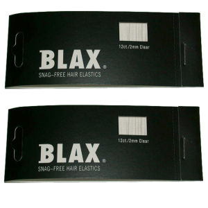 Blax Snag-Free 2mm Mini Braid Elastics - Clear Duo