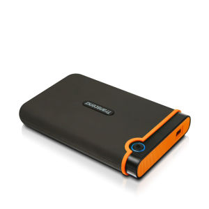 Transcend StoreJet 25M2 500GB External USB 2.0 Hard Drive, Military Grade Shock Resistant - Orange
