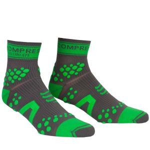 Compressport Pro Racing Socks - Trail - Grey/Green