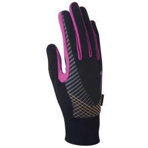 Nike Women's Elite Storm Fit Tech Run Glove - Black/Pink