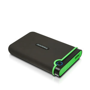 Transcend StoreJet 25M3 500GB External USB 3.0 Hard Drive, Military Grade Shock Resistant - Green