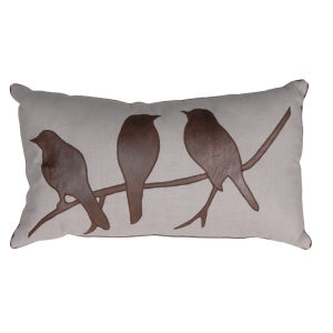 3 Birds Cream Cushion