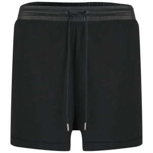 T by Alexander Wang Women's Leather Waistband Sweat Shorts - Black