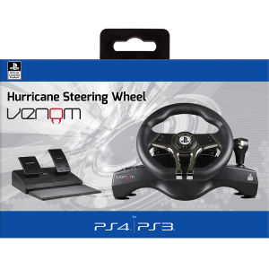 Hurricane Sony Licensed Steering Wheel for PS4 & PS3