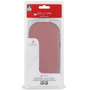 Official Sony PSP Go Pink Pull Up Tab Leather Slip Case