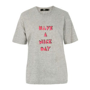 Markus Lupfer Women's TP270 Have A Nice Day T-Shirt - Grey Marl