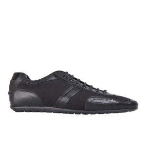 HUGO Men's Thatoz Textile/Leather Trainers - Black