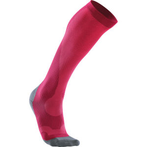 2XU Women's Compression Perf Run Sock - Hot Pink/Grey