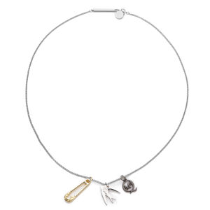 McQ Alexander McQueen Charm Necklace  - Shiny Silver