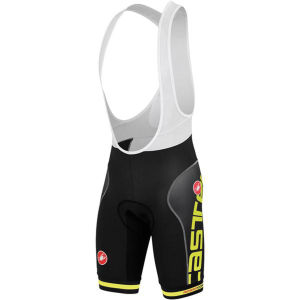 Castelli Free Aero Race Bib Shorts - Black/Yellow Fluo